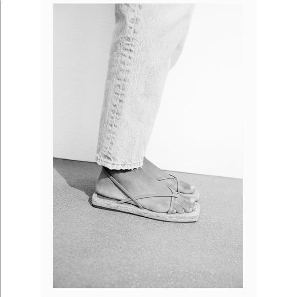 Zara chunky strappy jute sandals